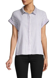 Sanctuary Striped Cotton and Linen Shirt