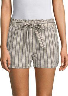 Sanctuary Striped Linen-Blend Shorts