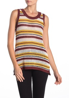 Sanctuary Sunland Stripe Sleeveless Cotton Sweater