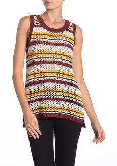 Sanctuary Sunland Stripe Sleeveless Cotton Sweater