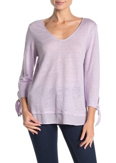 Sanctuary Sylvie Tiered Hem Linen Tee