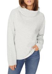 Sanctuary Telluride Cowl Neck Cotton Blend Sweatshirt