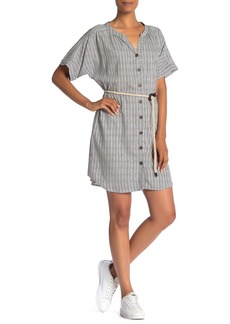 Sanctuary Tie Waist Button Down Dress