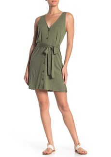 Sanctuary Tie Waist Button Down Tank Dress