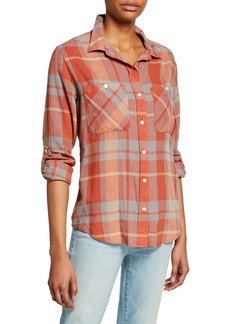 Sanctuary Tomboy Plaid Button-Front Long-Sleeve Shirt