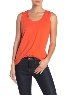 Sanctuary Travis Twist Detail Cotton Blend Tank Top
