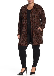 Sanctuary Up Camp Leopard Print Cardigan (Plus Size)