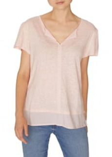 Sanctuary Uptown Tiered Hem Linen Tee