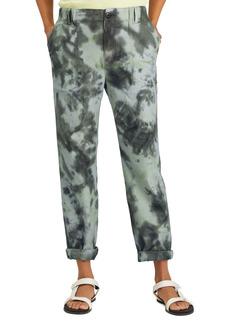 Women's Sanctuary Helious Tie Dye Cotton Blend Utility Pants