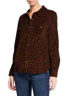 Sanctuary Work Leopard-Print Button-Front Shirt