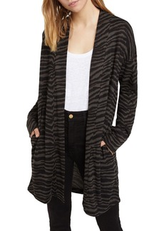 Sanctuary Zebra Print Cozy Cardigan