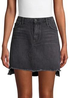 Sandrine Rose High-Low Denim Mini Skirt