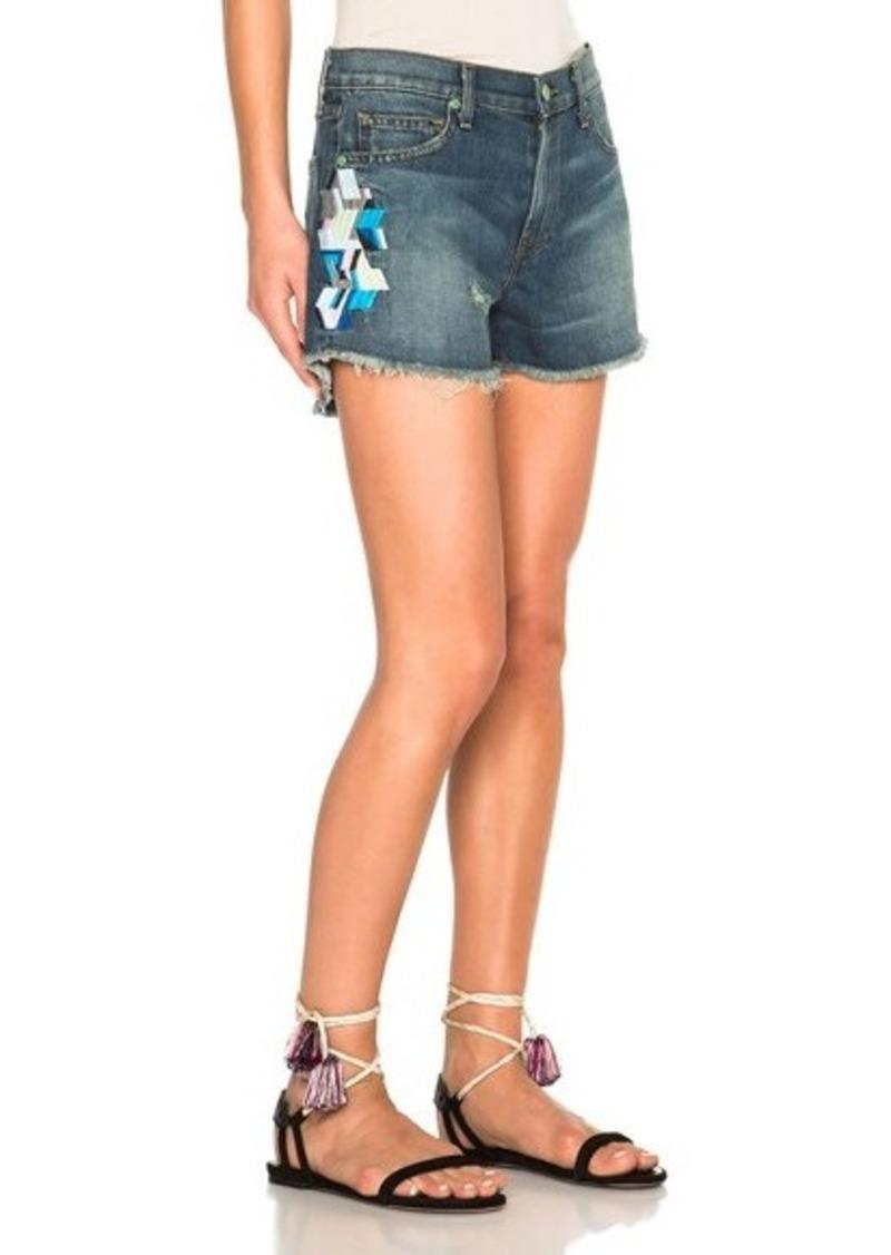 Sandrine Rose Embroidered Mini Shorts