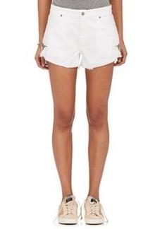 Sandrine Rose Women's Embroidered Denim Cutoff Shorts