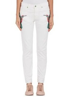 Sandrine Rose Women's Skinny Boyfriend Embroidered Jeans