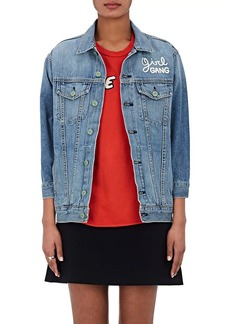 "Sandrine Rose Women's ""Trouble Maker"" Cotton Denim Jacket"