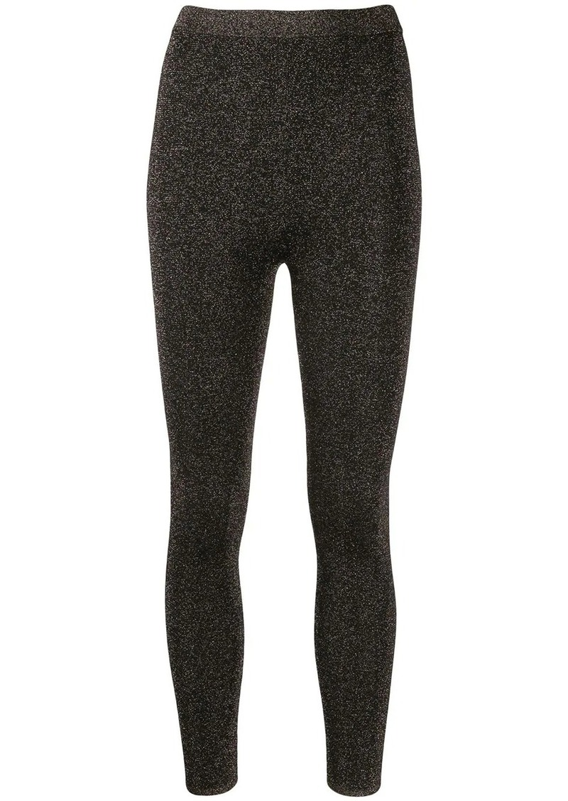 Sandro pull-on glitter leggings