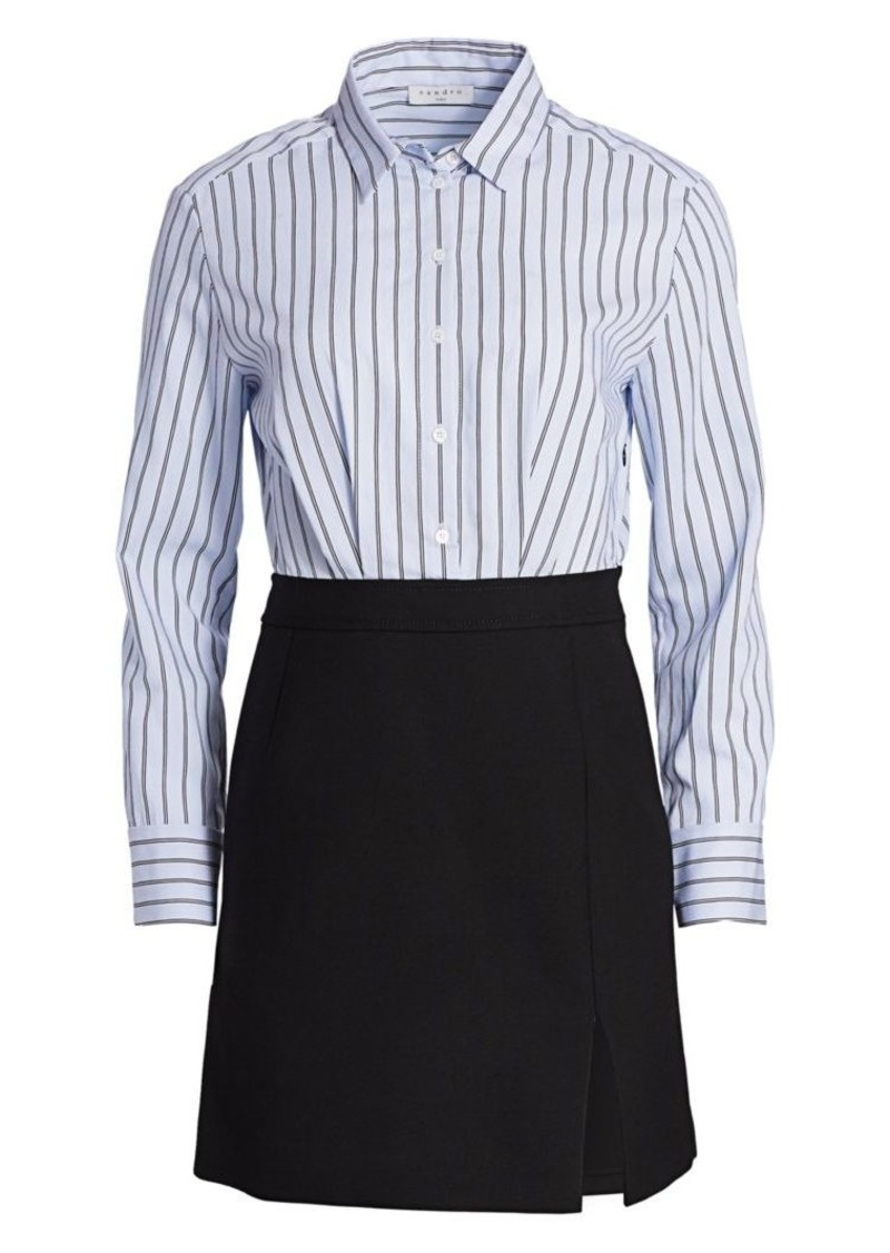 Sandro 2-in-1 Shirt Dress