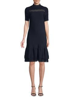 Sandro Amity A-Line Ruffled Dress