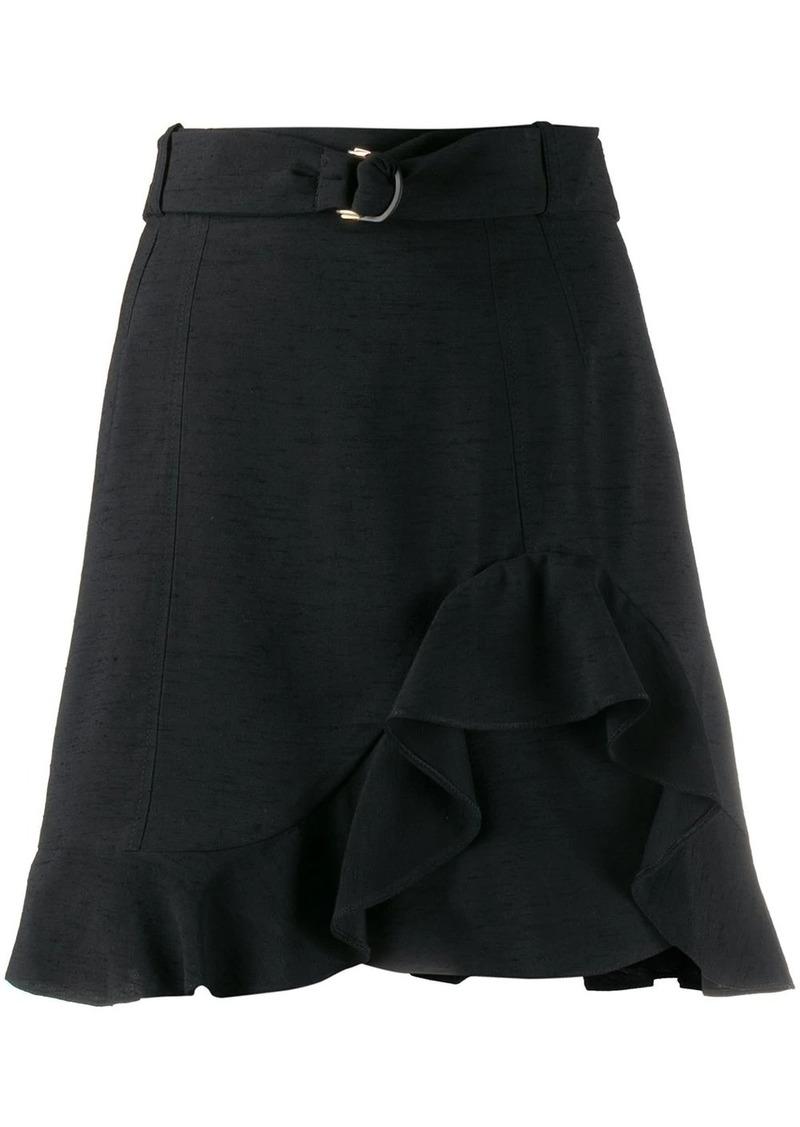 Sandro Amy ruffled mini skirt