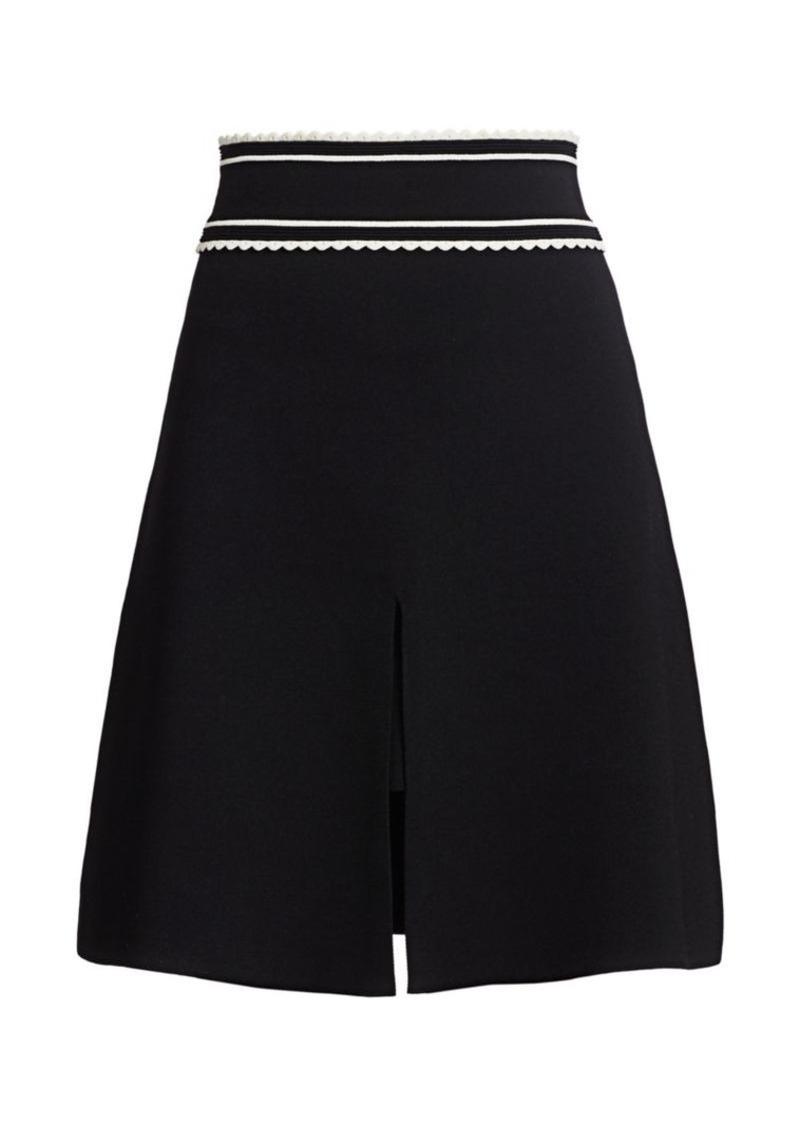 Sandro Anna Scalloped A-Line Skirt
