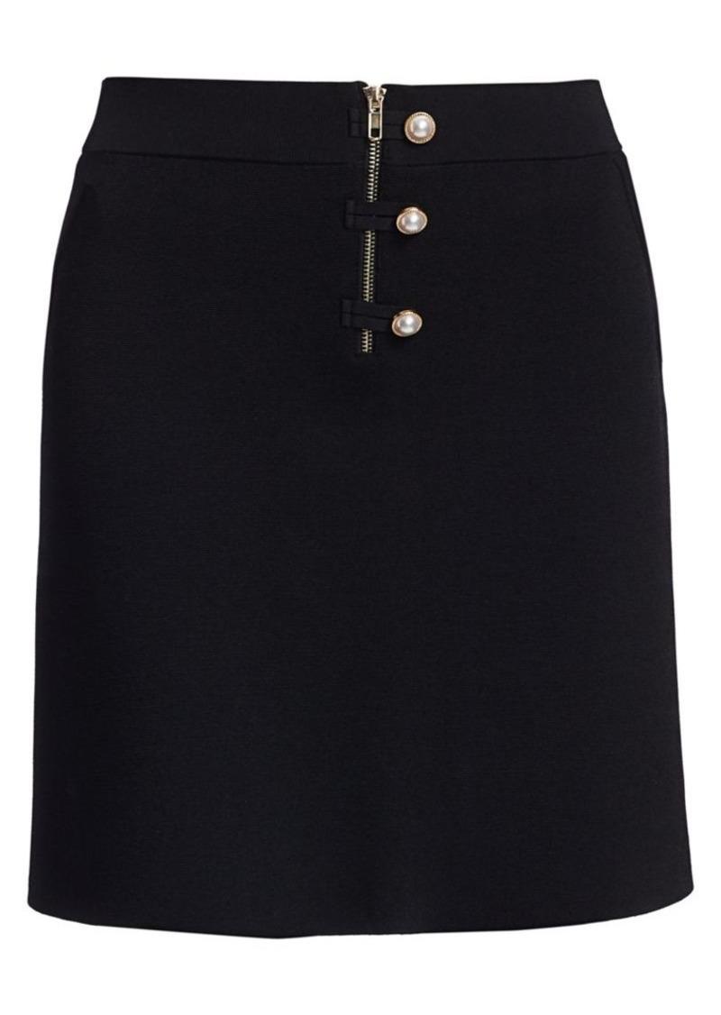 Sandro Bale Imitation Pearl-Button Mini A-Line Skirt