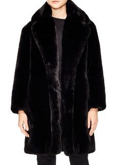 Sandro Ballote Oversized Faux Fur Coat