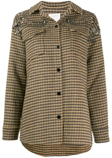Sandro bead embroidered jacket