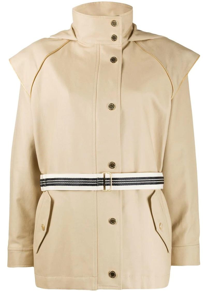 Sandro belted lightweight jacket