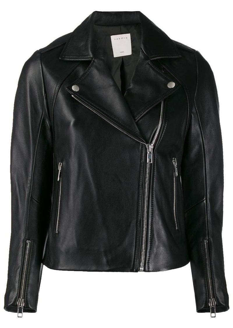 Sandro biker-style moto jacket