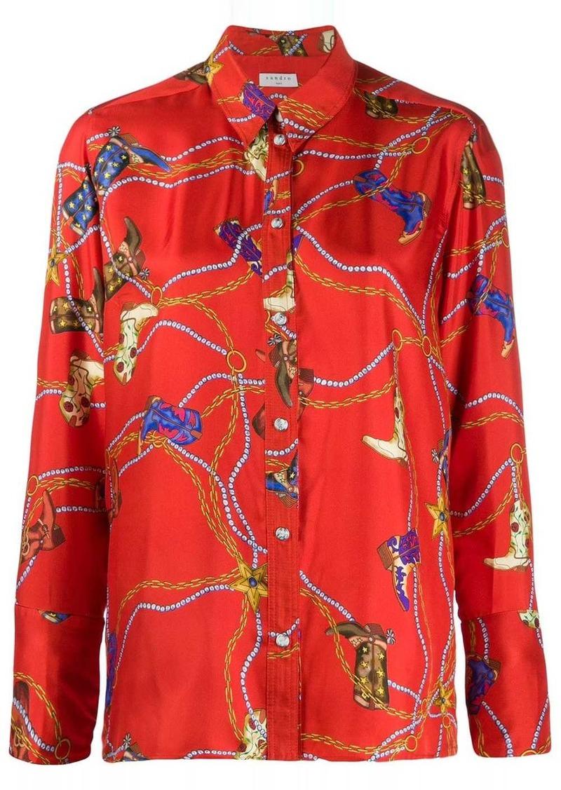 Sandro boot print blouse