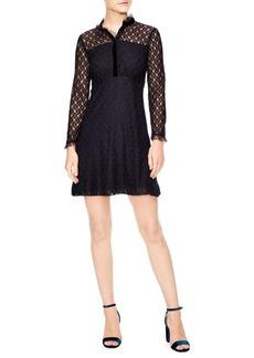 Sandro British Mashup Vegetale A-line Lace Dress