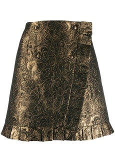 Sandro brocade embroidery short skirt