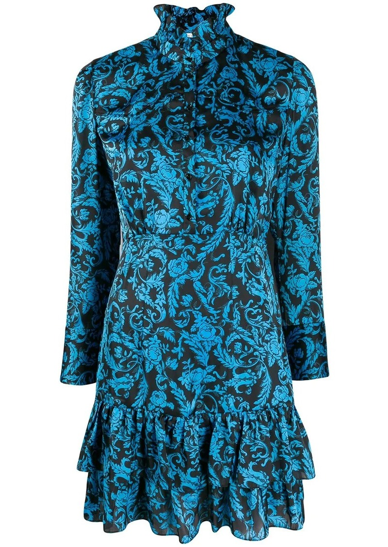 Sandro brocade print short dress
