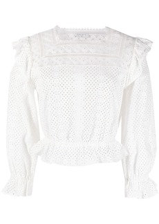 Sandro broderie anglaise cropped blouse