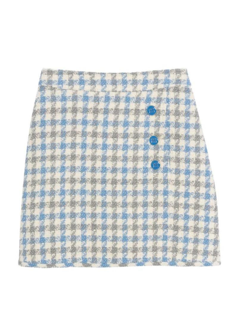 Sandro Calia Houndstooth Mini Skirt