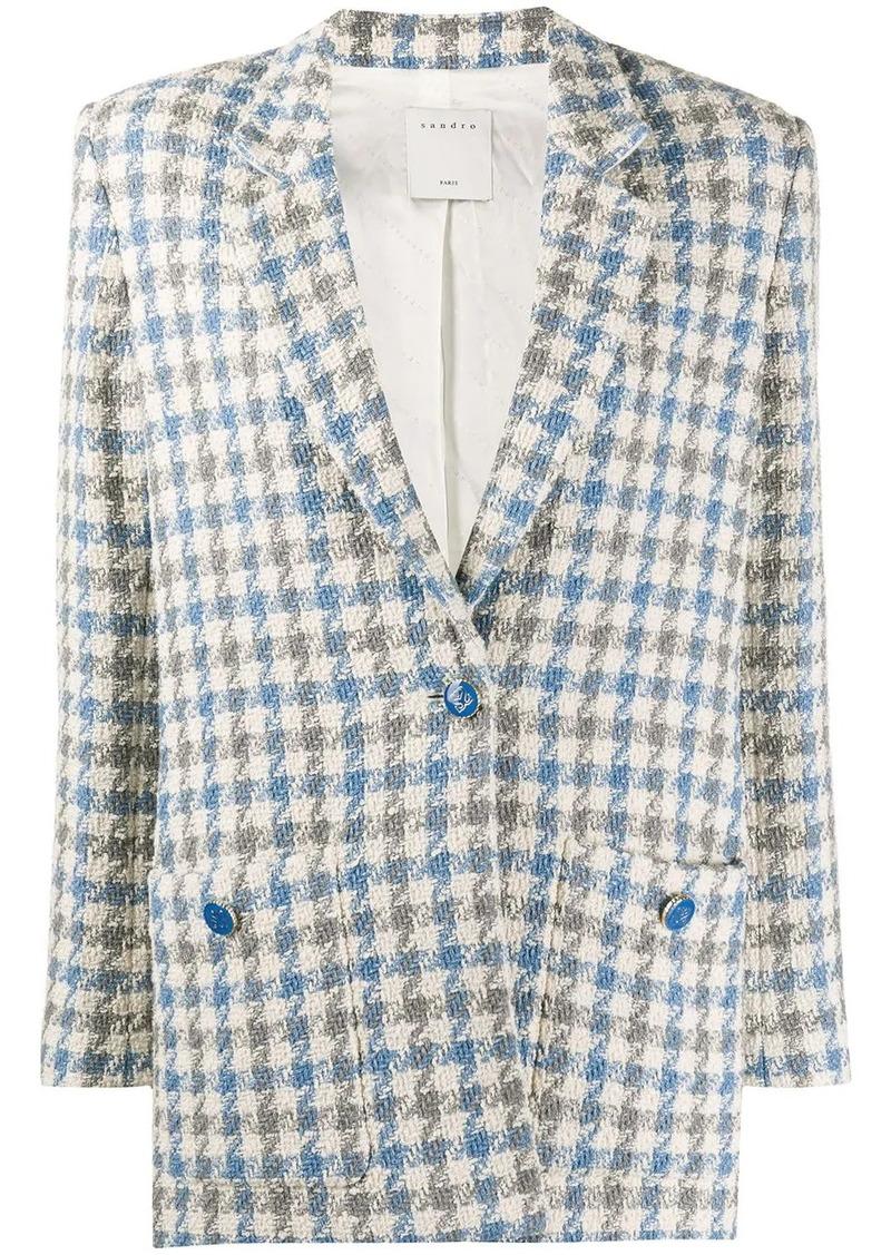 Sandro Caliana houndstooth tweed blazer
