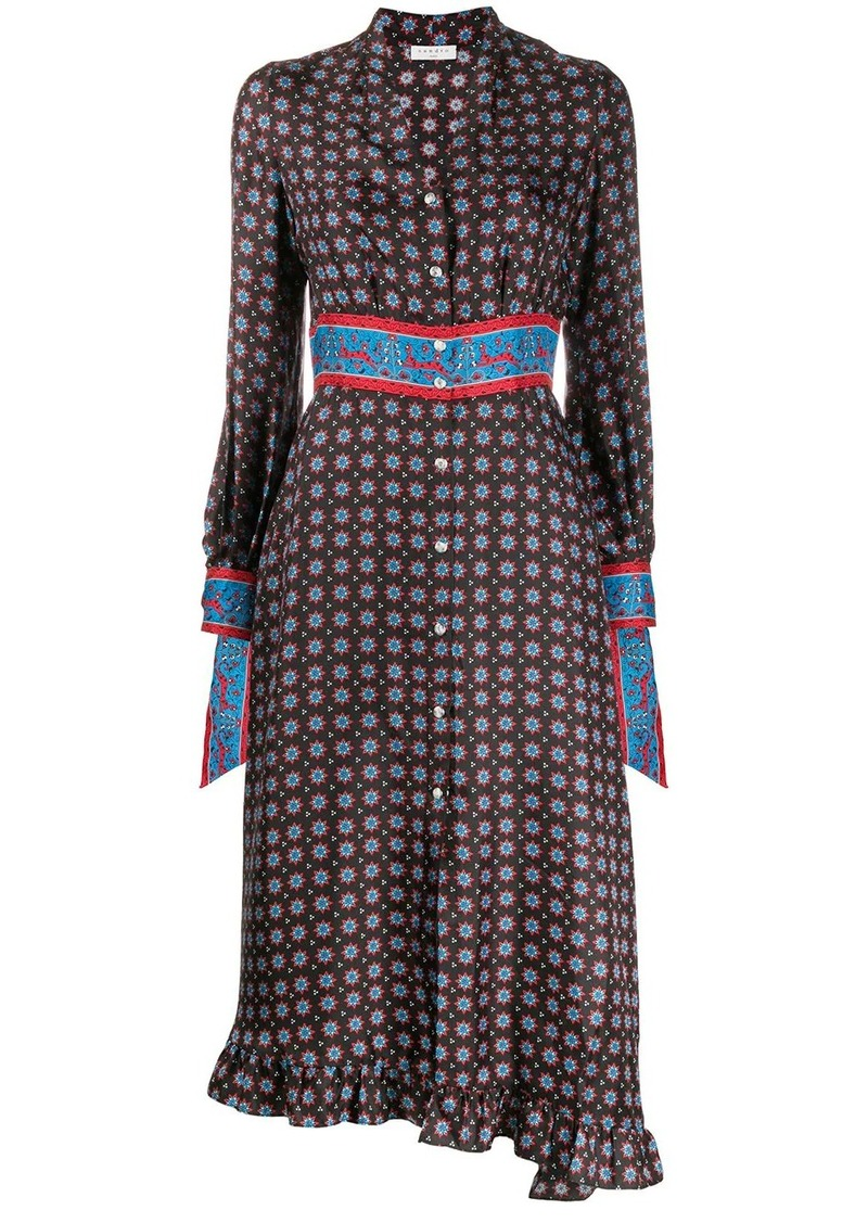 Sandro Catlyn printed midi dress