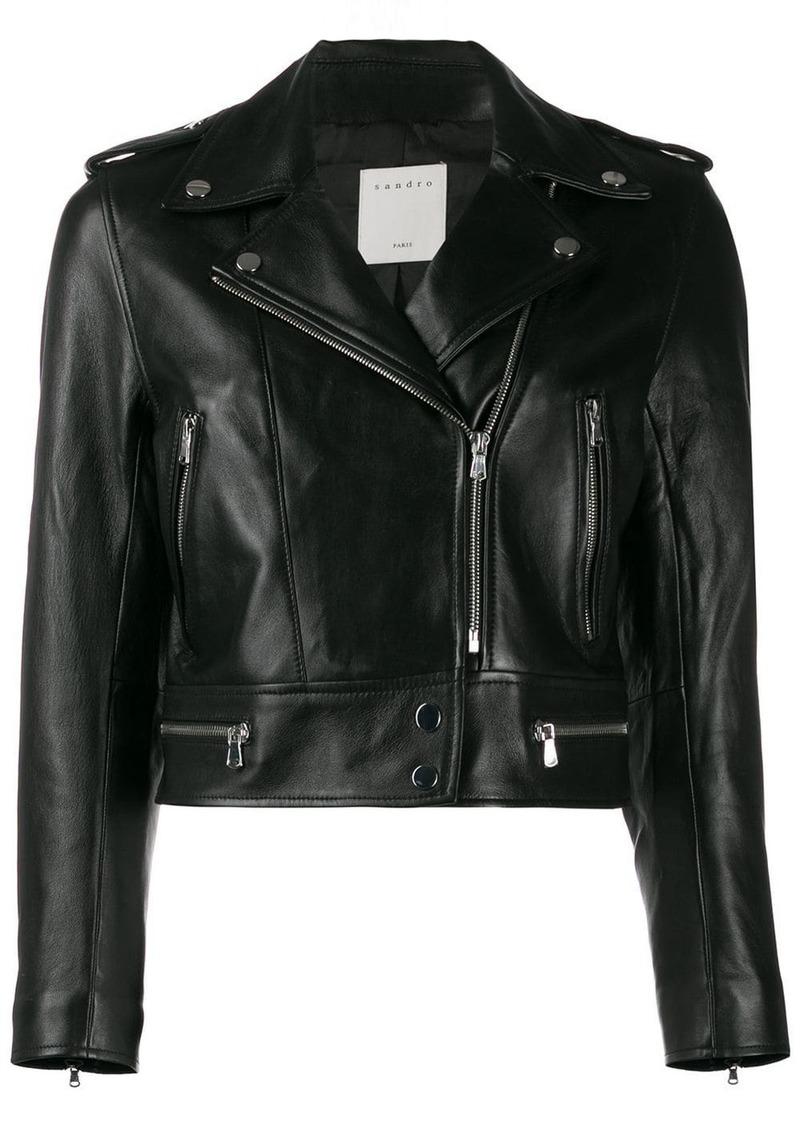 Sandro cropped biker jacket