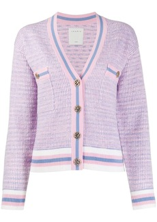 Sandro cropped tweed effect cardigan