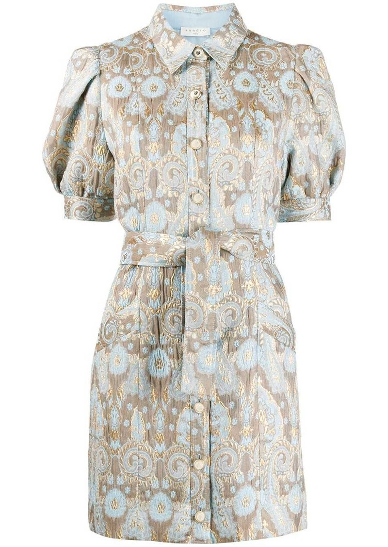 Sandro Dorlan brocade shirt dress
