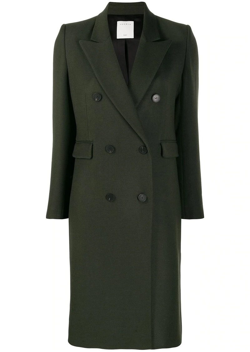 double breasted midi coat