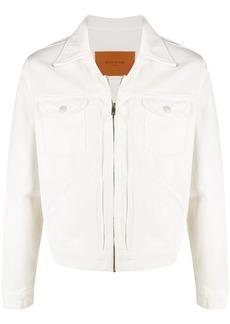 Sandro pleated denim jacket