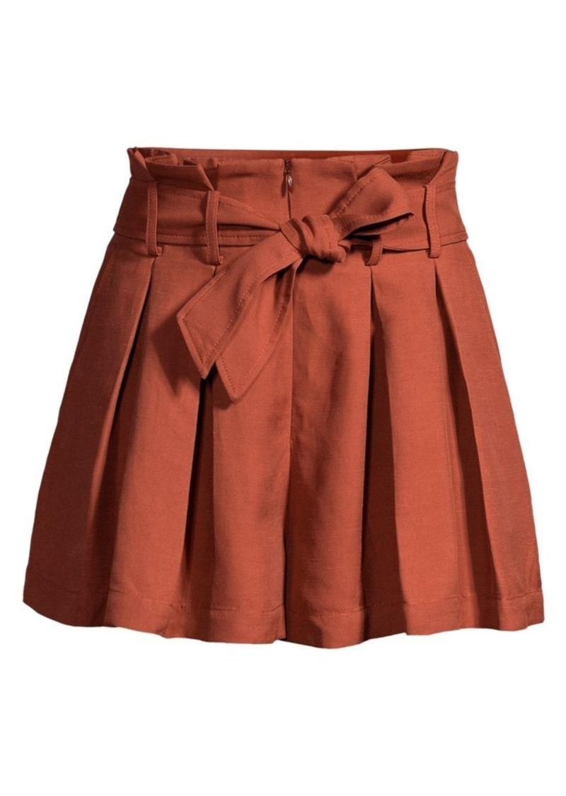Sandro Eddi Paperbag Waist Shorts