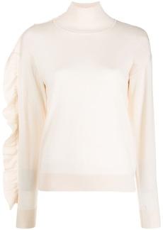 Sandro Eleen ruffle-flap sweater