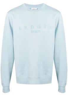 Sandro embroidered-logo cotton sweatshirt