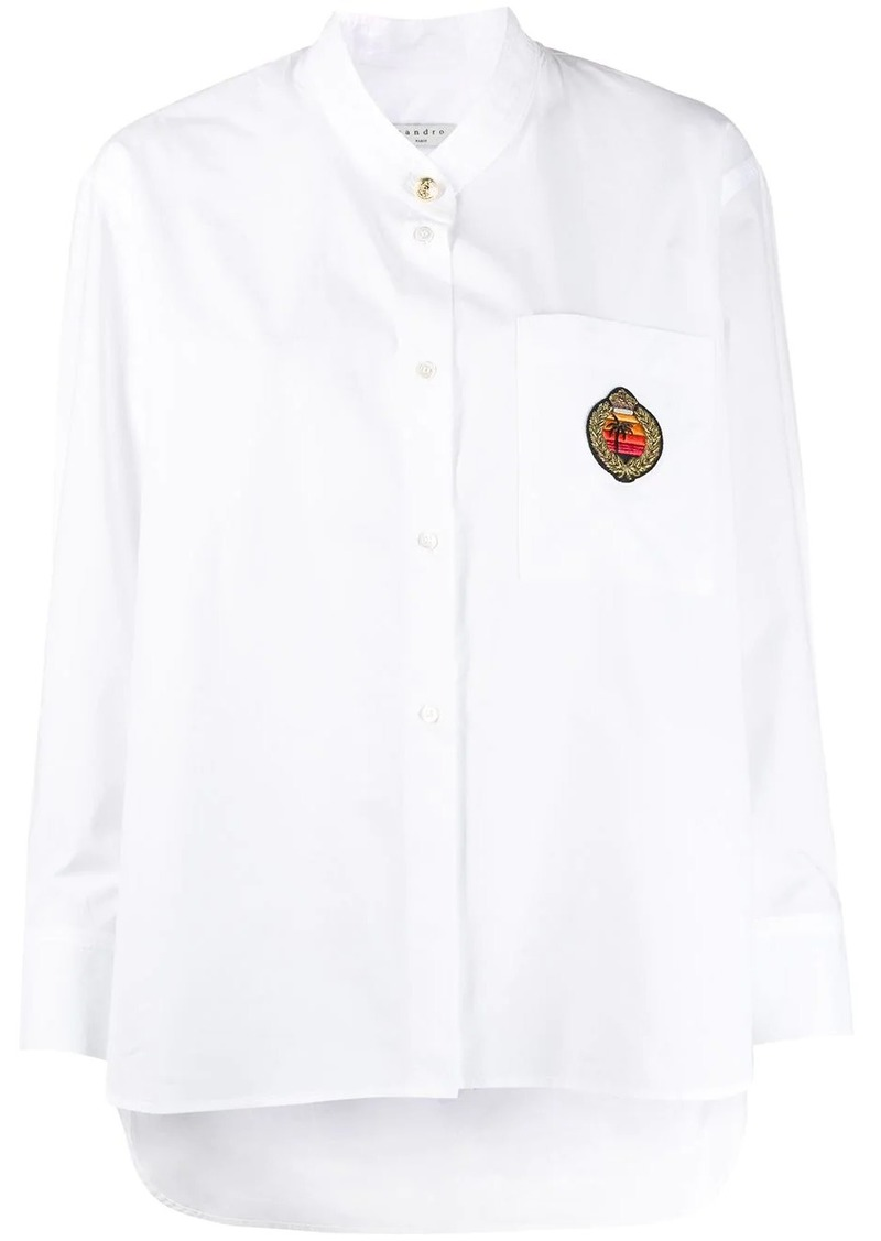 Sandro embroidered patch shirt