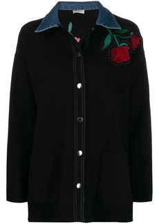 Sandro floral embroidered shirt
