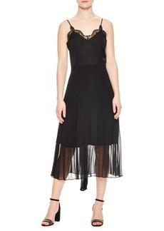Sandro Flower Vibrations Sheer Overlay Slip Dress