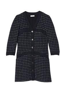 Sandro Gelina Tweed-Knit Mini Dress
